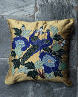 Peacock Applique Cushion Cover