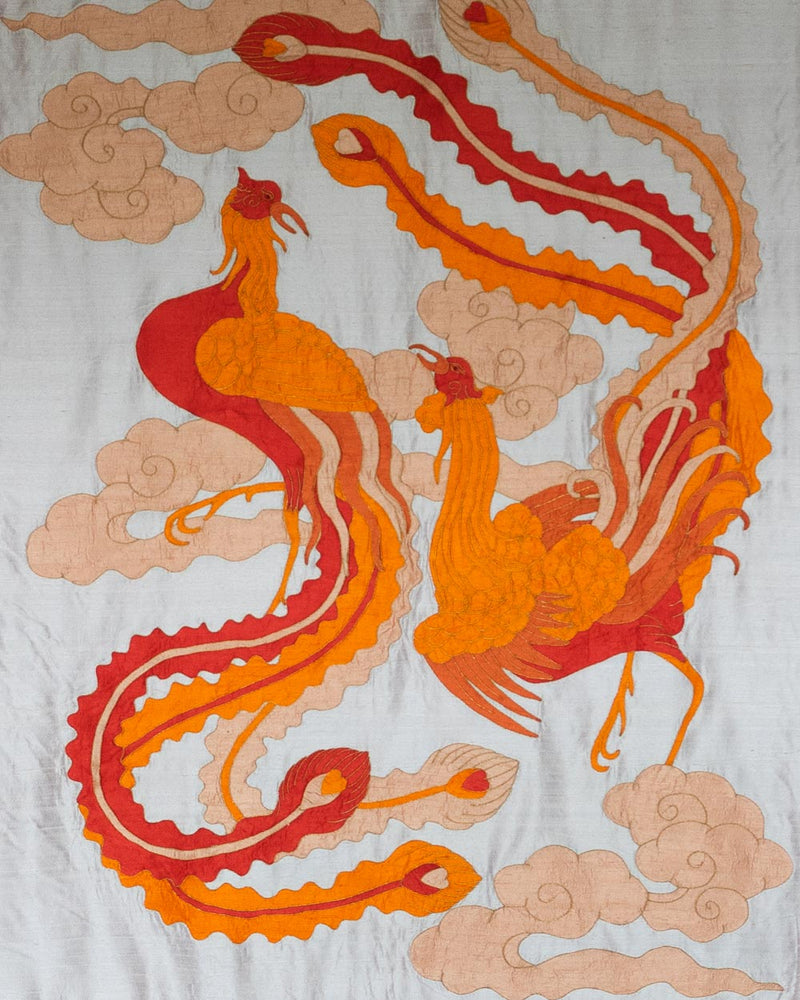 Phoenixes Applique Wall Hanging