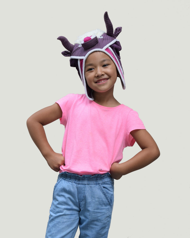 Kids Yak Hat, Purple/Pink