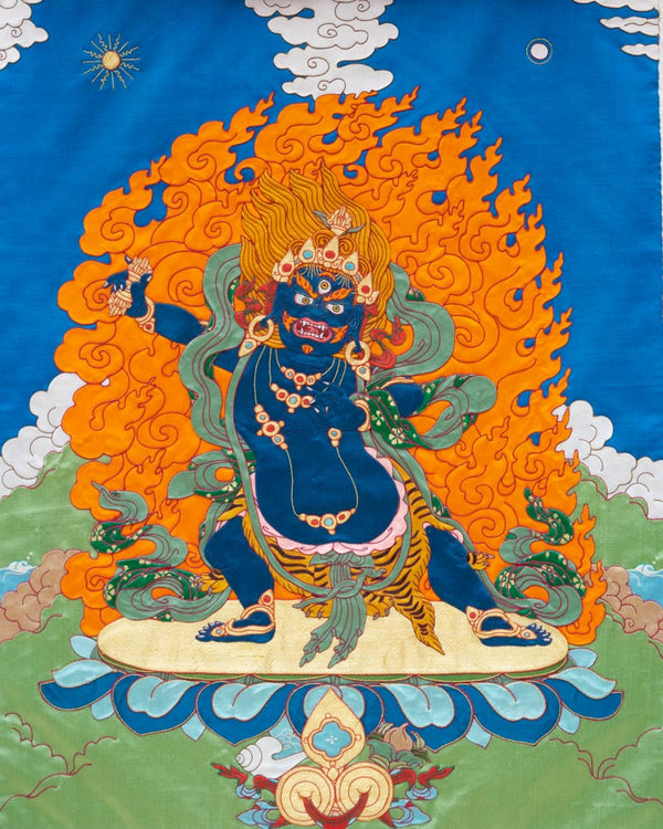 Vajrapani Applique Thangka
