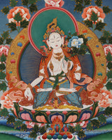 White Tara Painted Thangka (5ft)