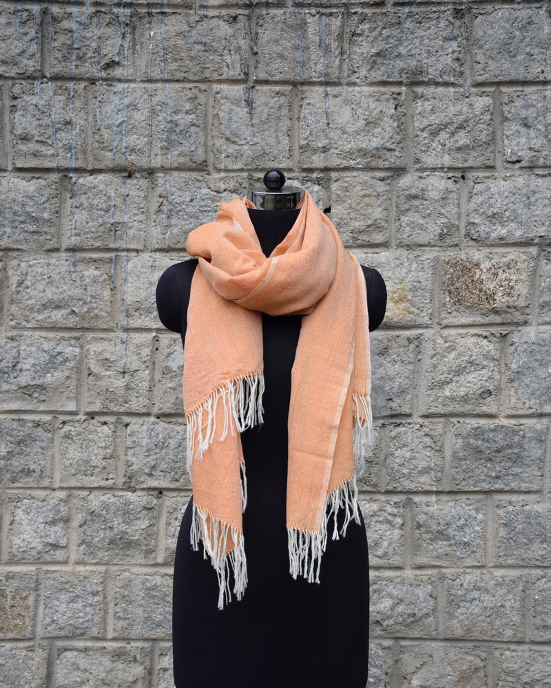 Wool Scarf Light - Peach
