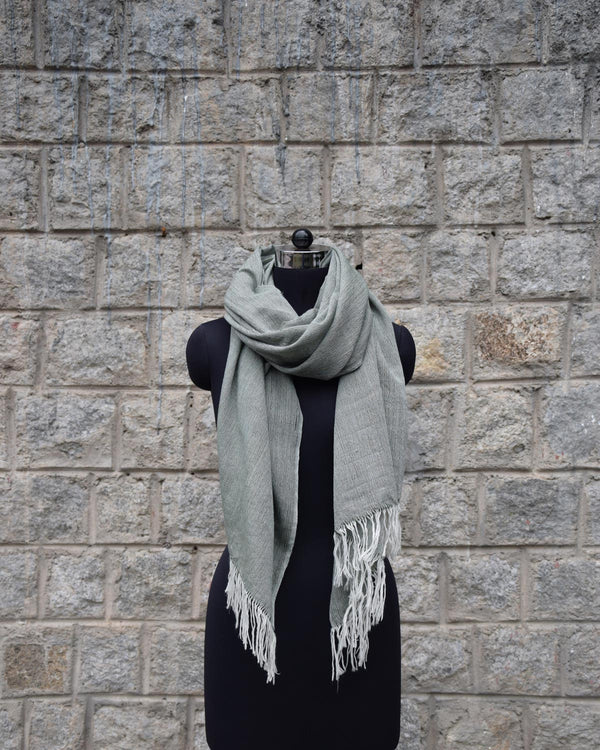 Wool Scarf Light - Sage Green