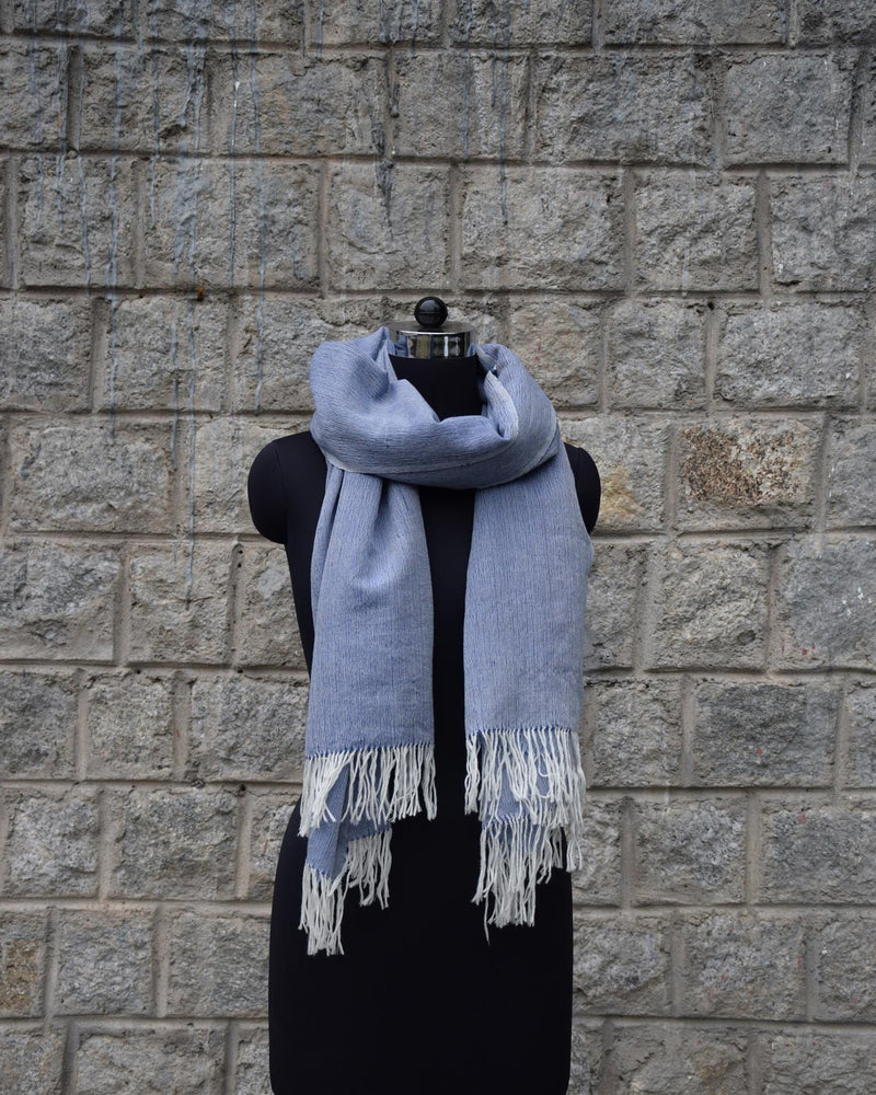 Wool Scarf Light - Sky Blue