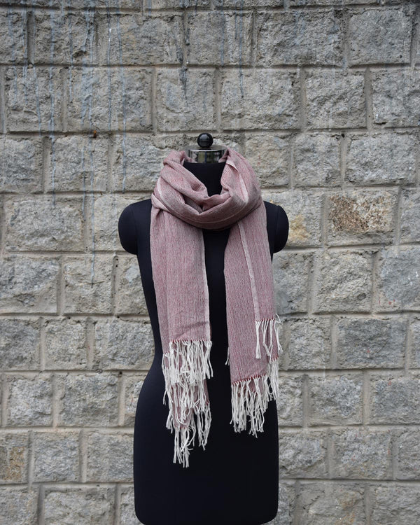 Wool Scarf Light - Wine Red