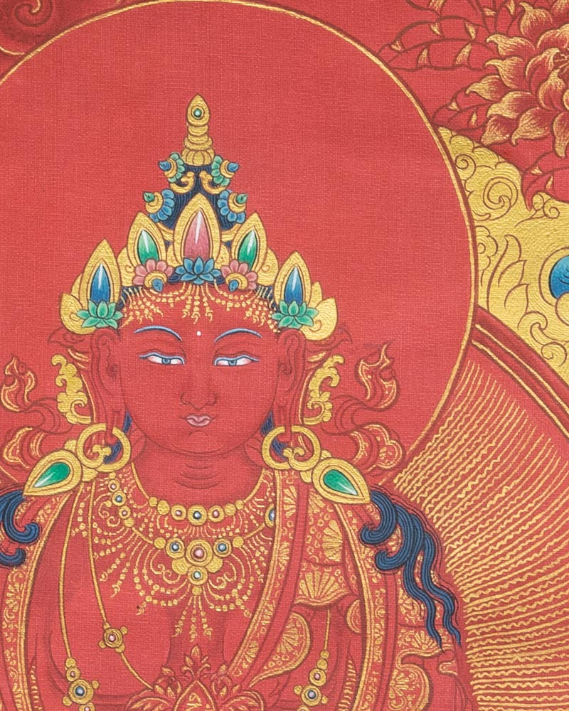 Buddha Amitayus Painted Thangka
