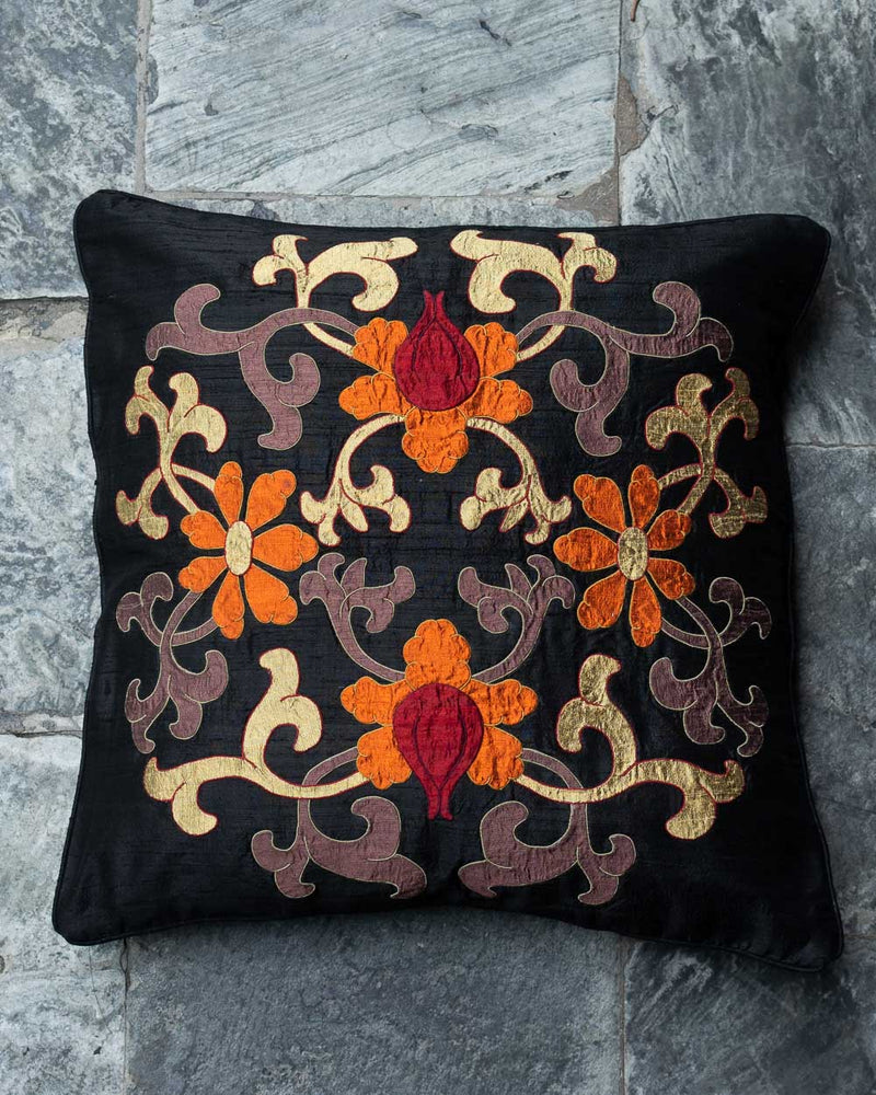 Classic Flower Applique Cushion Cover