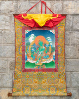 Green Tara Painted Thangka