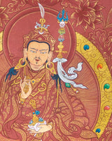 Guru Padmasambhava Painted Thangka