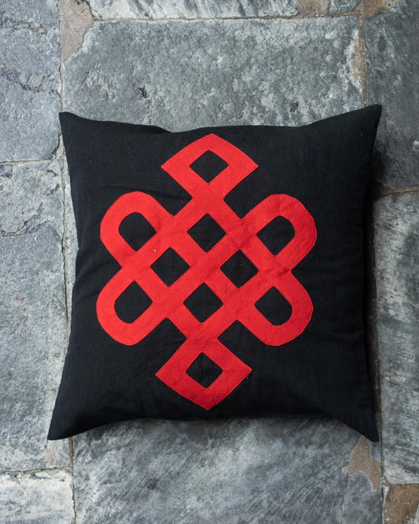 Eternal Knot Cushion Cover Set (Red)