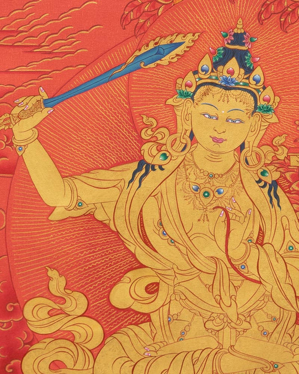 Manjushri Painted Thangka
