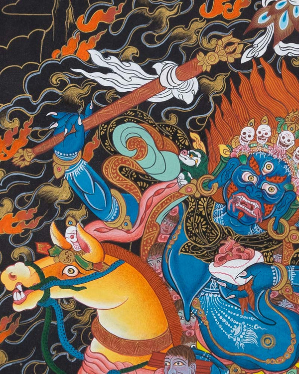 Shri Devi - Palden Lhamo Painted Thangka