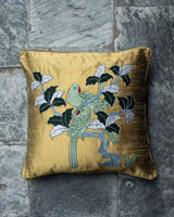 Parrots Applique Cushion Cover