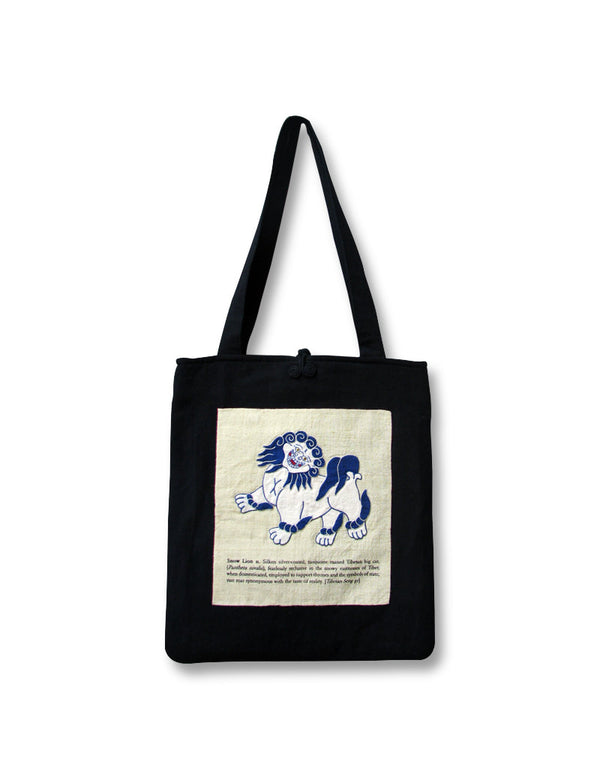 Tibetan Shopping Bag, Snow Lion