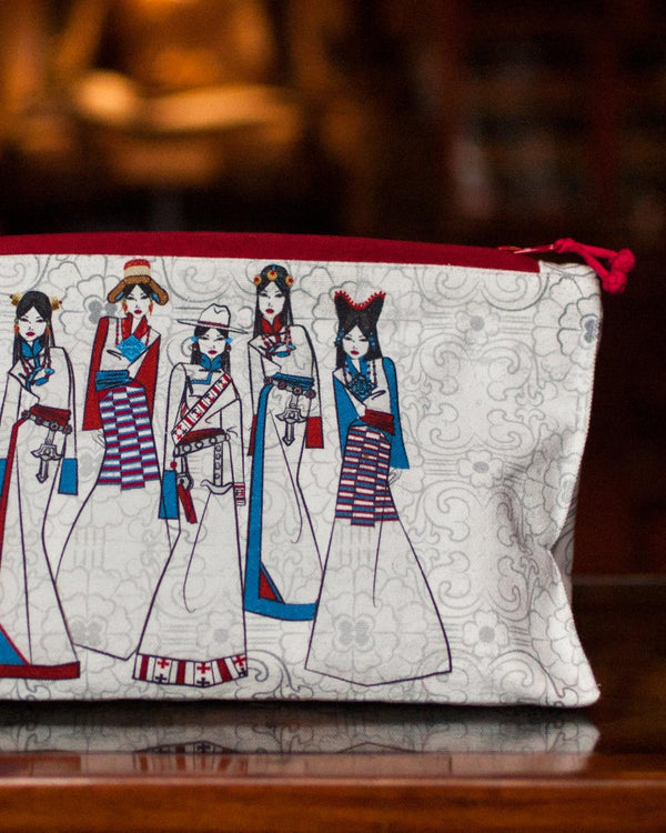 Faces of Tibetan Makeup Pouches