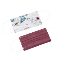 Load image into Gallery viewer, Laura Ashley 3-Ply Disposable Face Masks Polly Floral/Dusty Rose Solid (10 Pack)
