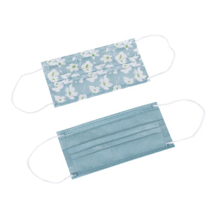 Laura Ashley 3-Ply Disposable Face Masks Simone Turq/Turq Solid (5 Pack)
