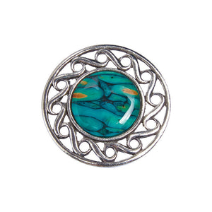 Heathergems Scotland Brooch
