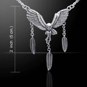 Owl & Feathers Celtic Necklace