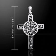 Load image into Gallery viewer, Triskelion Celtic Weave Cross Necklace