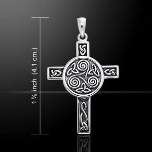 Triskelion Celtic Weave Cross Necklace