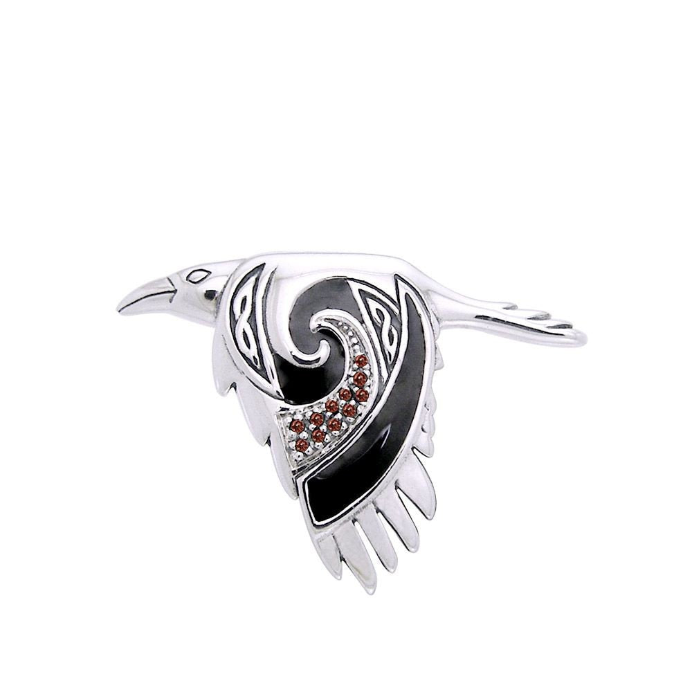 Birget Celtic Raven Necklace