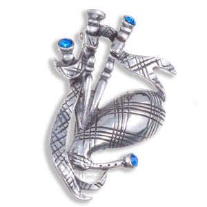 Bagpipes Crystal Brooch