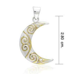 Liv Moon Spiral Necklace