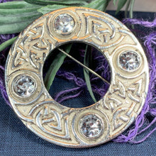 Load image into Gallery viewer, Crystal Celtic Knot Brooch