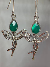 Load image into Gallery viewer, Celtic Green Fairy Earrings