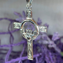 Load image into Gallery viewer, Fineen Claddagh Cross Necklace