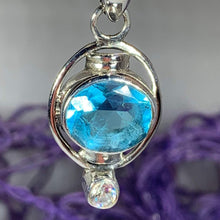 Load image into Gallery viewer, Celtic Blue Topaz Necklace