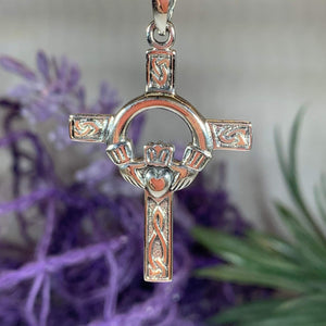 Fineen Claddagh Cross Necklace