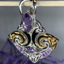 Load image into Gallery viewer, Celtic Triquetra Gemstone Necklace
