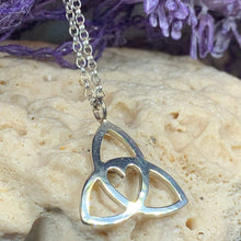 Load image into Gallery viewer, Gabrielle Triquetra Heart Necklace