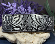 Load image into Gallery viewer, Celtic Knot Hair Clip, Celtic Barrette, Irish Jewelry, Pagan Jewelry, Friendship Gift, Wiccan Jewelry, Norse Jewelry, Animal Barrette