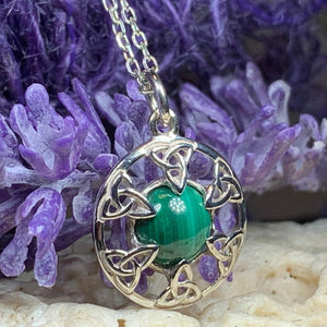 Trinity Knot Malachite Necklace