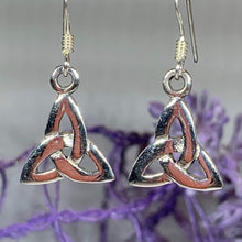 Load image into Gallery viewer, Petite Trinity Knot Earrings