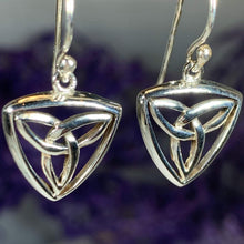 Load image into Gallery viewer, Celtic Trinity Knot Drop Earrings