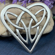 Load image into Gallery viewer, Celtic Heart Brooch