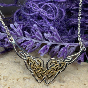 Celtic Endless Love Heart Necklace