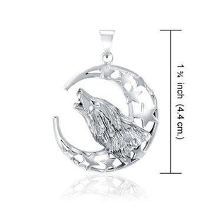 Celestial Howling Wolf Necklace