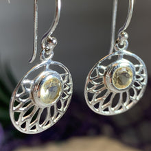 Load image into Gallery viewer, Celtic Lotus Flower Earrings