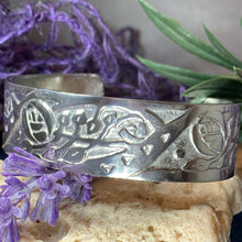Load image into Gallery viewer, Celtic Mackintosh Flower Cuff Bracelet
