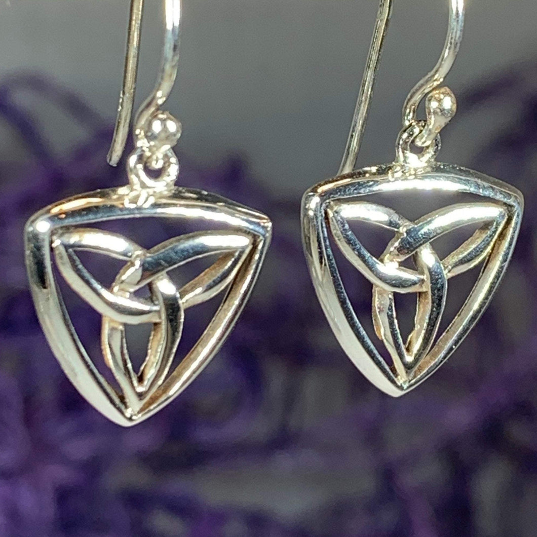 Celtic Trinity Knot Drop Earrings