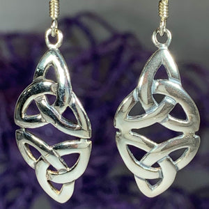 Double Trinity Knot Earrings
