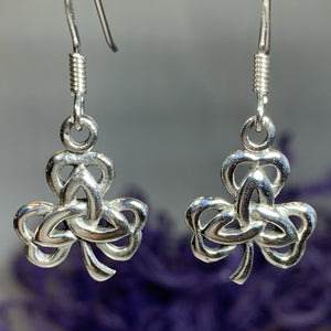 Trinity Knot Shamrock Earrings
