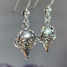 Load image into Gallery viewer, Caledonia Celtic Thistle Earrings