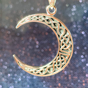 Celtic Knot Moon Necklace