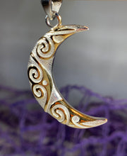 Load image into Gallery viewer, Liv Moon Spiral Necklace